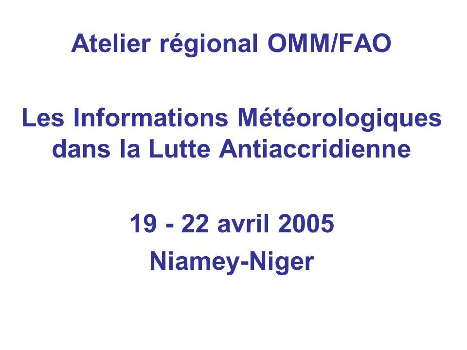Atelier régional OMM/FAO