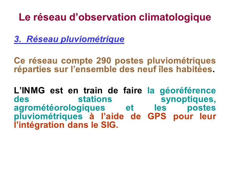 Le réseau d'observation climatologique