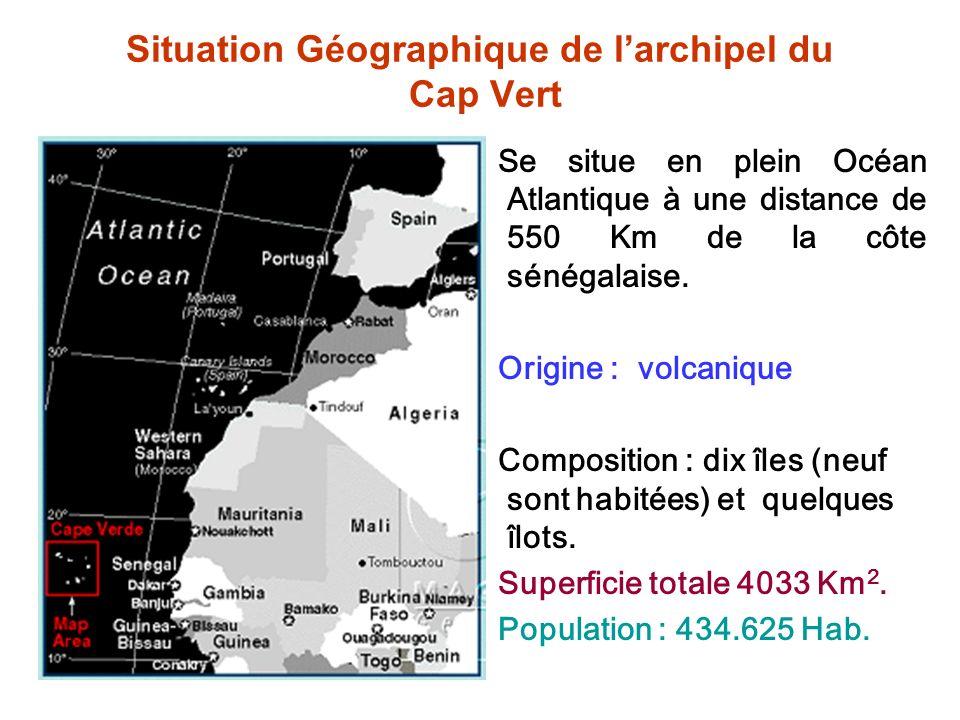Situation Géographique de l'archipel du Cap Vert