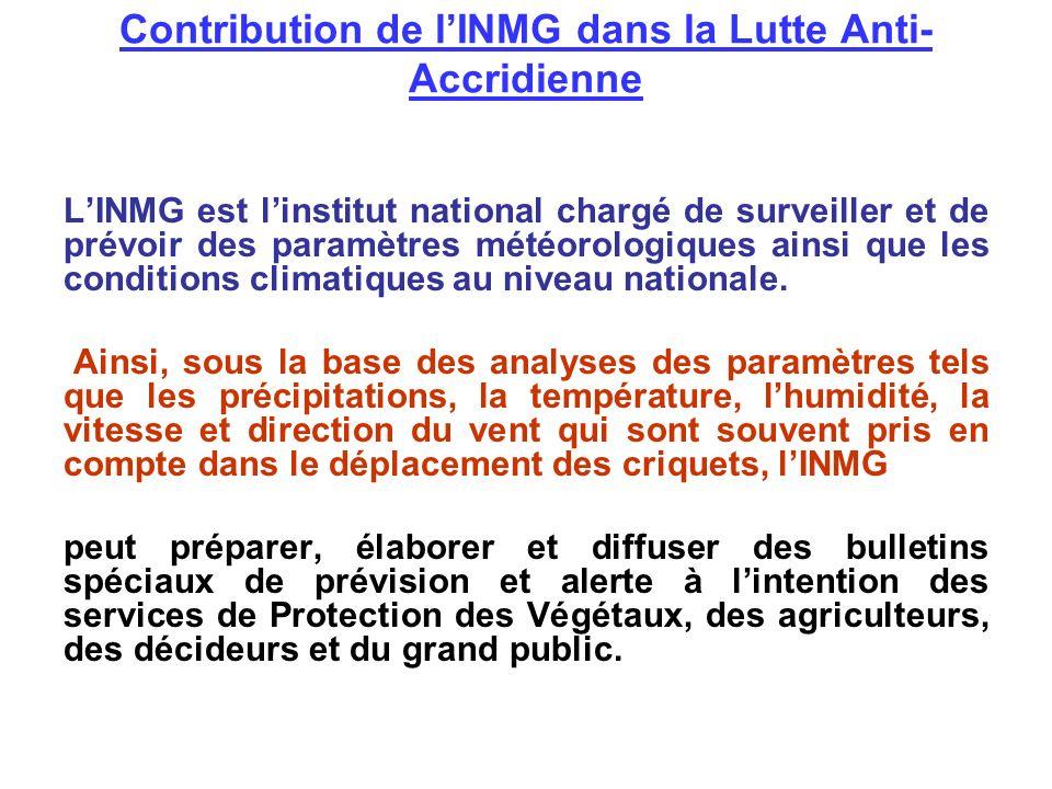 Contribution de l'INMG dans la Lutte Anti-Accridienne