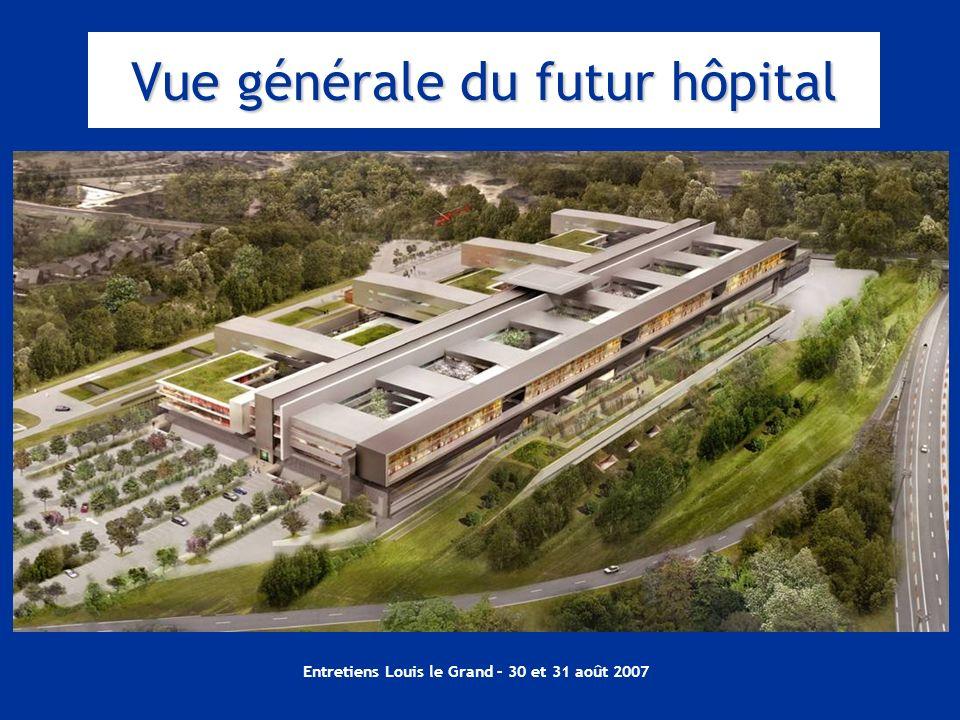 Vue générale du futur hôpital