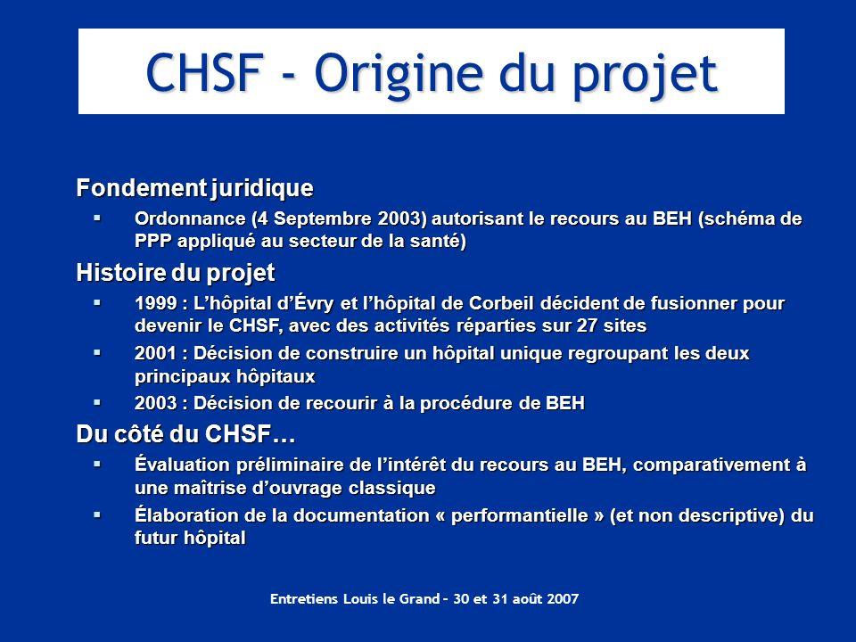 CHSF - Origine du projet