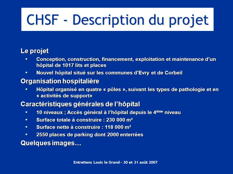 CHSF - Description du projet