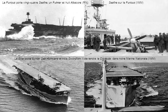 Le Furious porte vingt-quatre Seafire, un Fulmar et huit Albacore (RN)