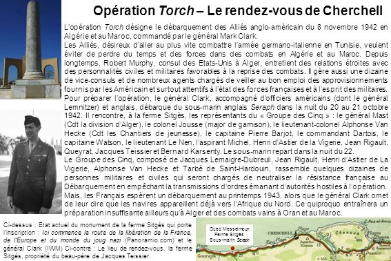 Opération Torch – Le rendez-vous de Cherchell