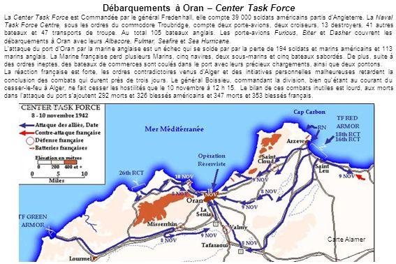 Débarquements à Oran – Center Task Force