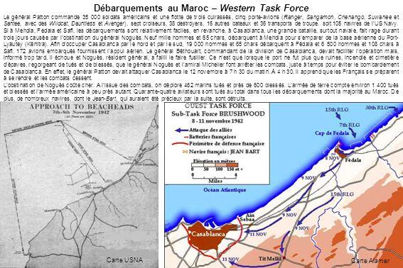 Débarquements au Maroc – Western Task Force