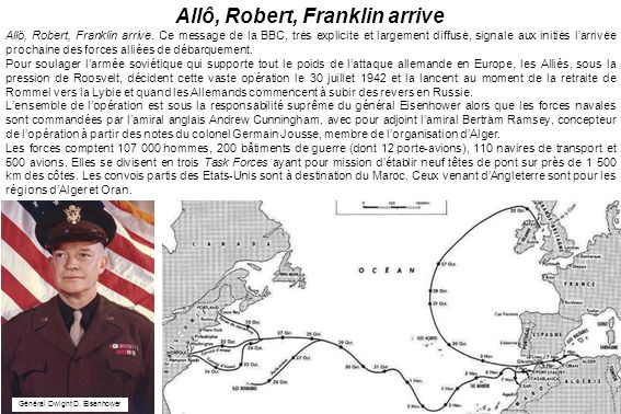 Allô, Robert, Franklin arrive