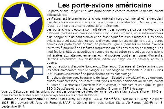 Les porte-avions américains