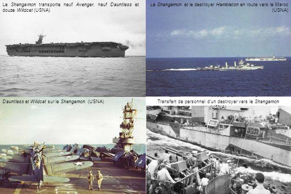 Transfert de personnel d'un destroyer vers le Shangamon (USNA)