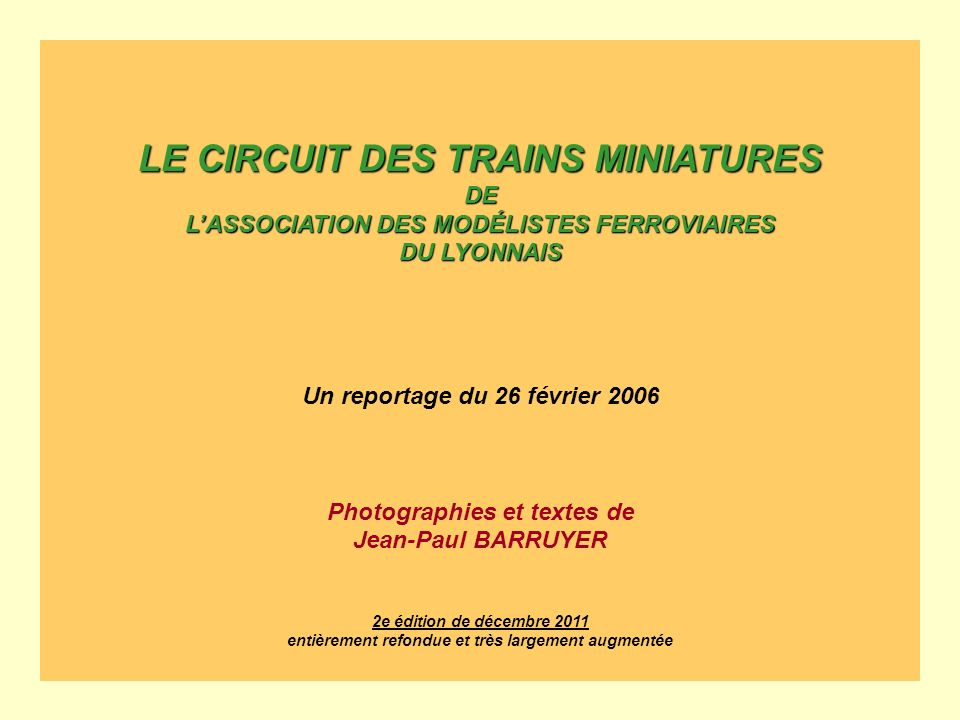 LE CIRCUIT DES TRAINS MINIATURES