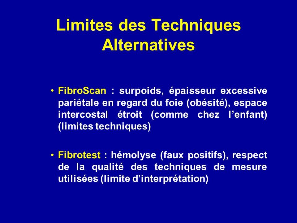 Limites des Techniques Alternatives