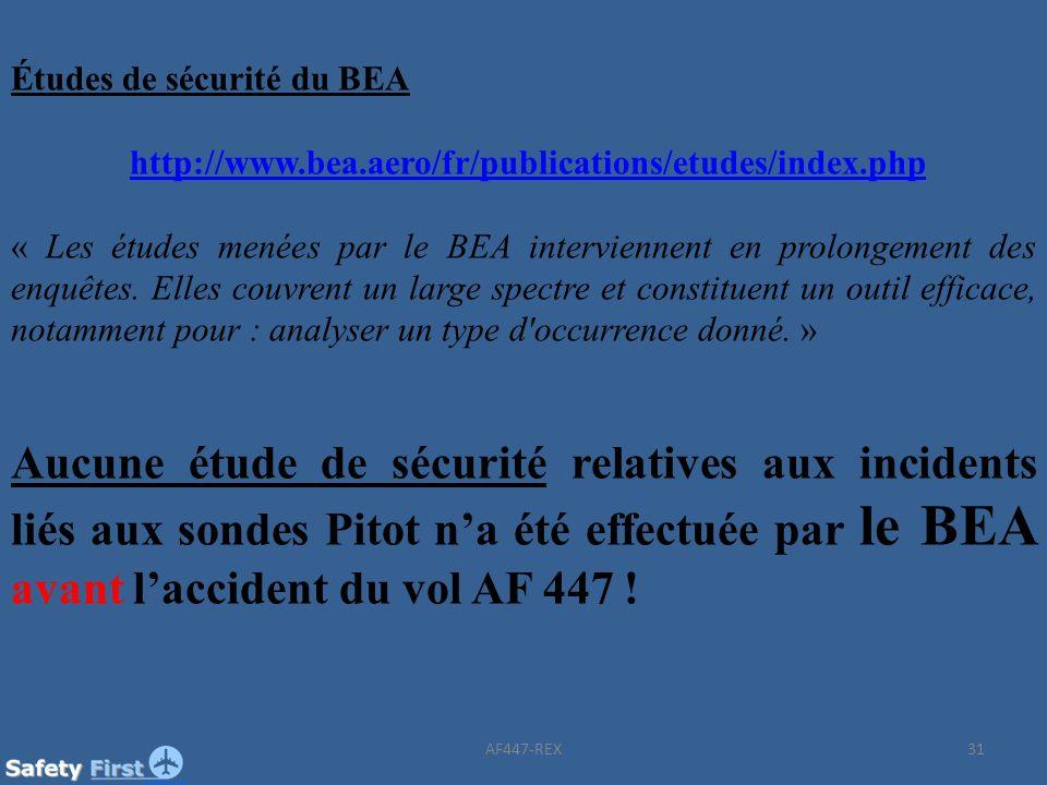 Études de sécurité du BEA