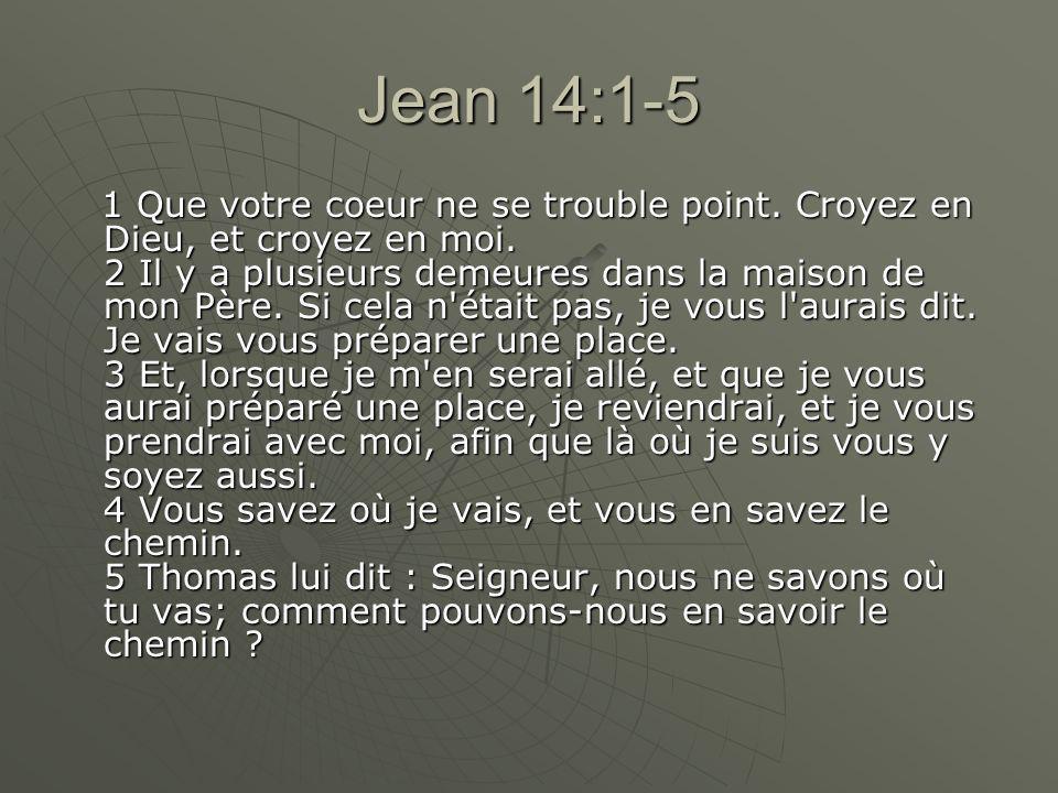 Jean 14:1-5