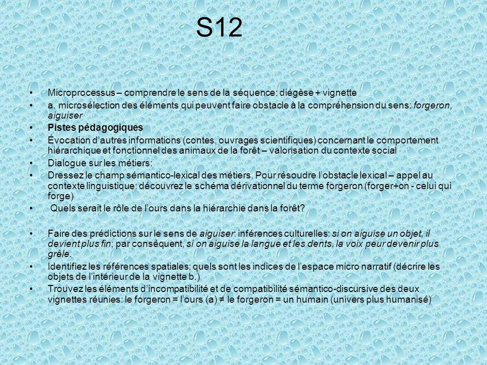 S12 Microprocessus – comprendre le sens de la séquence: diégèse + vignette.
