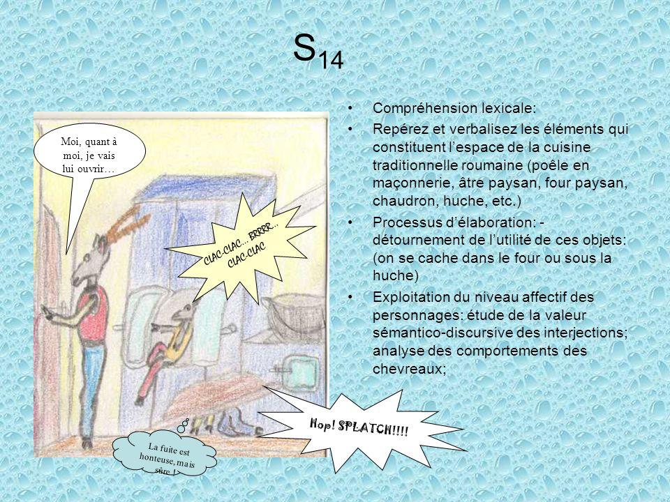 S14 Compréhension lexicale:
