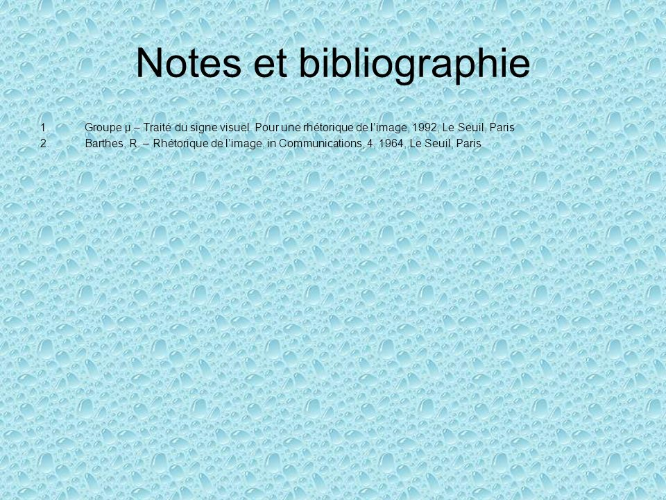 Notes et bibliographie