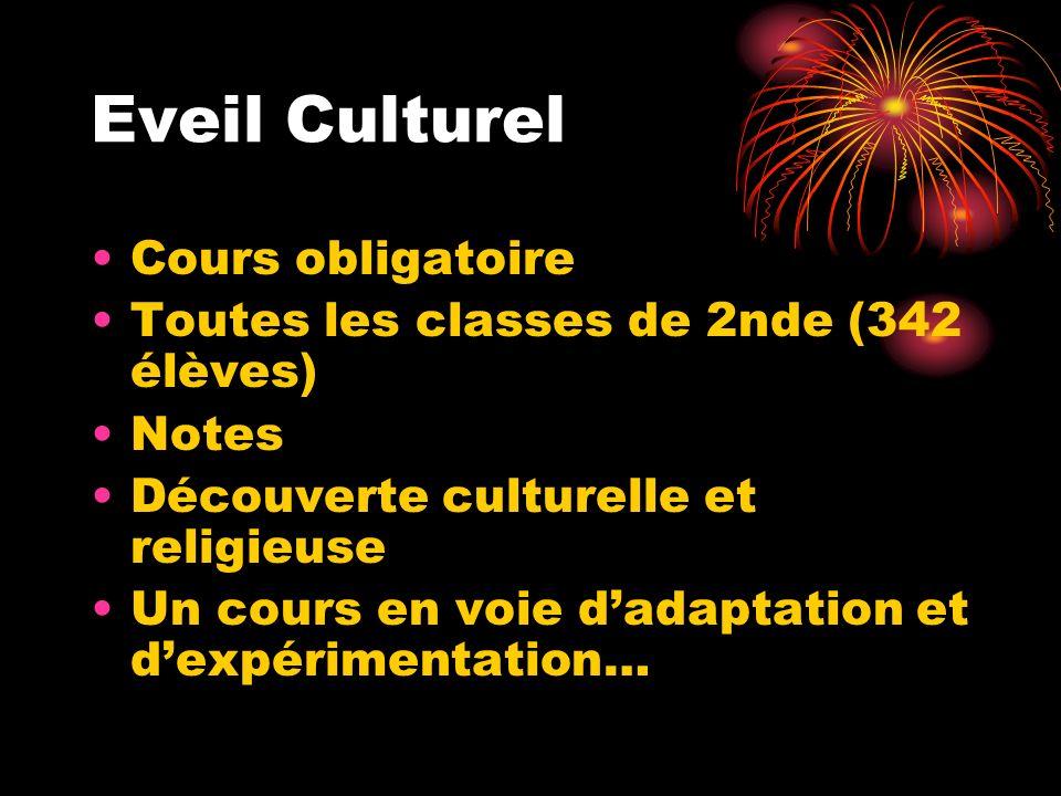 Eveil Culturel Cours obligatoire