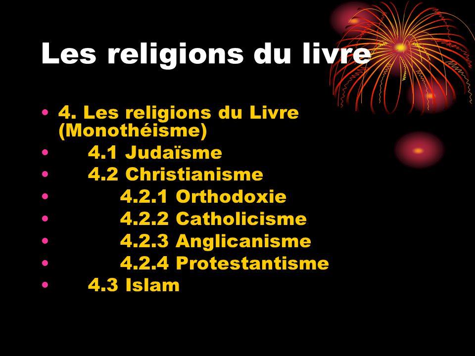 Les religions du livre 4. Les religions du Livre (Monothéisme)