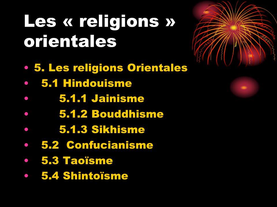 Les « religions » orientales