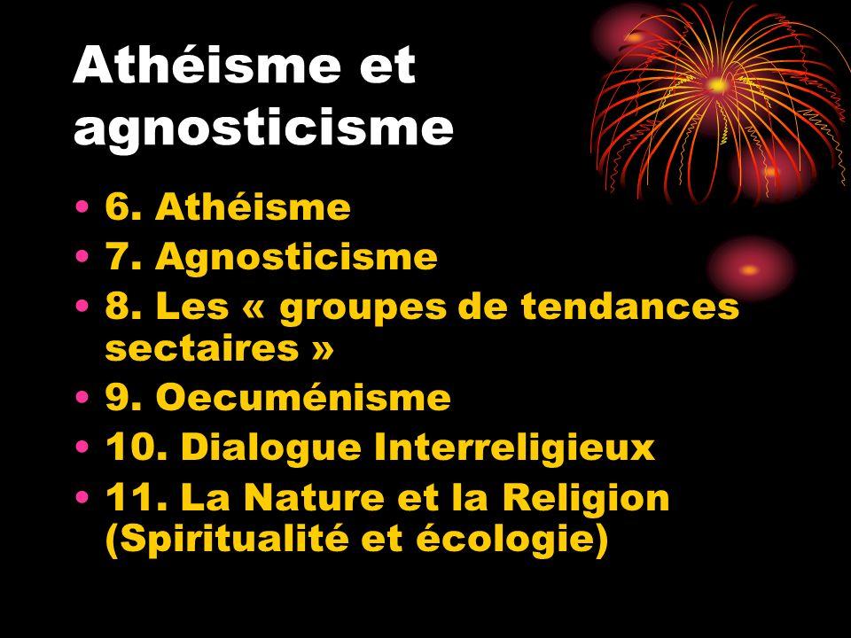 Athéisme et agnosticisme