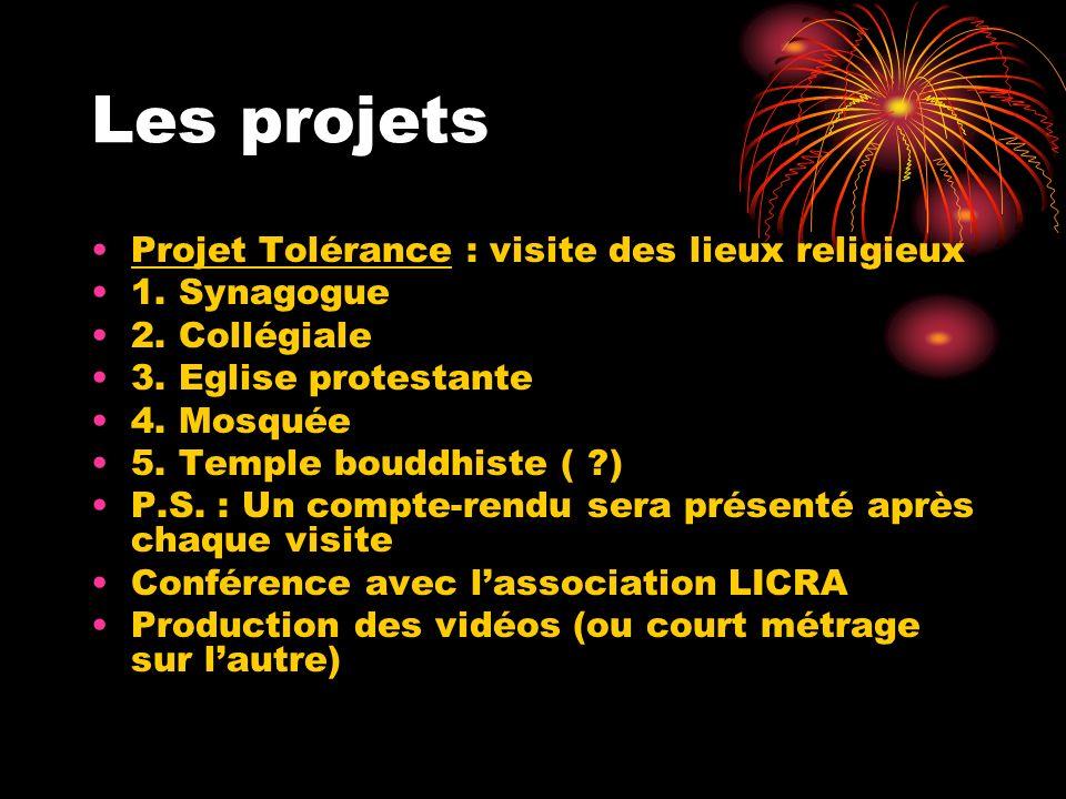 Les projets Projet Tolérance : visite des lieux religieux 1. Synagogue