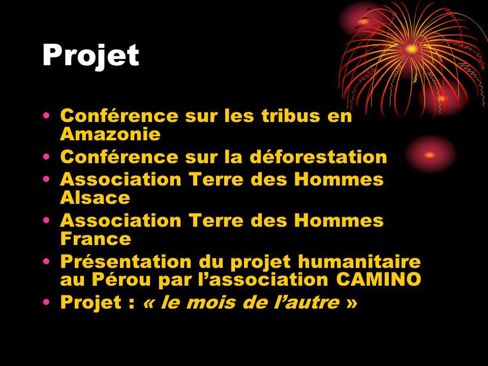Projet Conférence sur les tribus en Amazonie