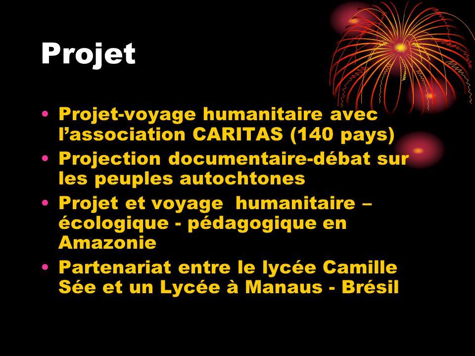 Projet Projet-voyage humanitaire avec l'association CARITAS (140 pays)