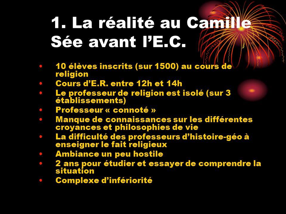 1. La réalité au Camille Sée avant l'E.C.