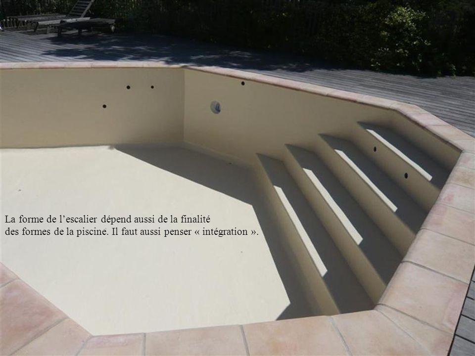 La forme de l'escalier dépend aussi de la finalité