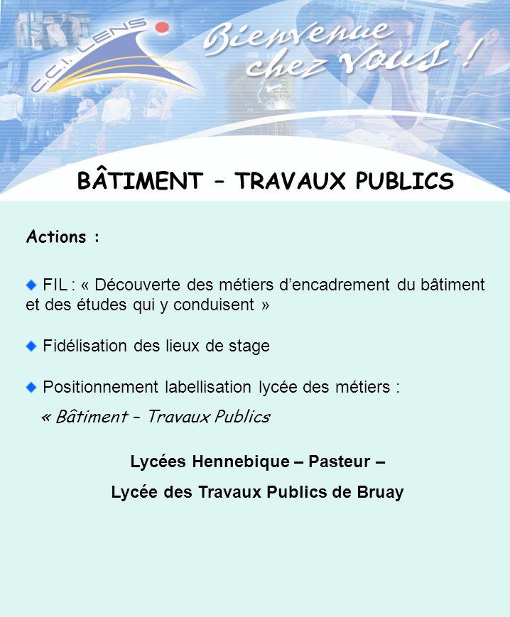 BÂTIMENT – TRAVAUX PUBLICS Lycées Hennebique – Pasteur –