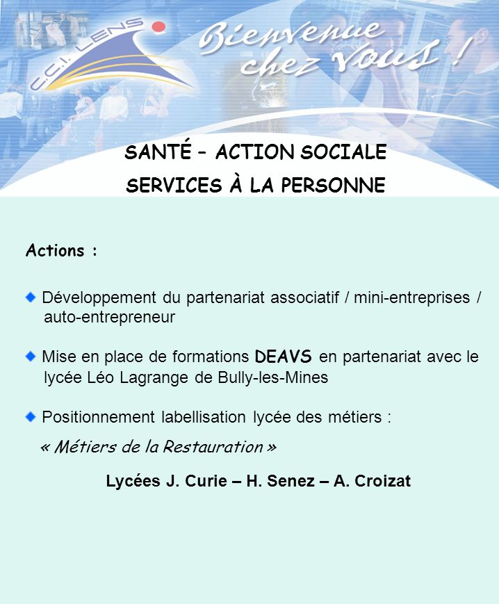 Lycées J. Curie – H. Senez – A. Croizat