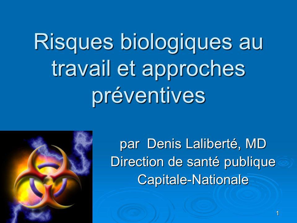 Risques biologiques au travail et approches préventives