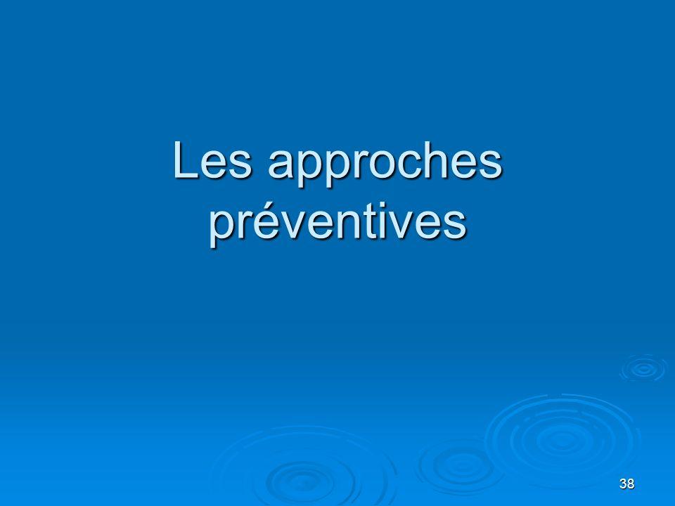 Les approches préventives