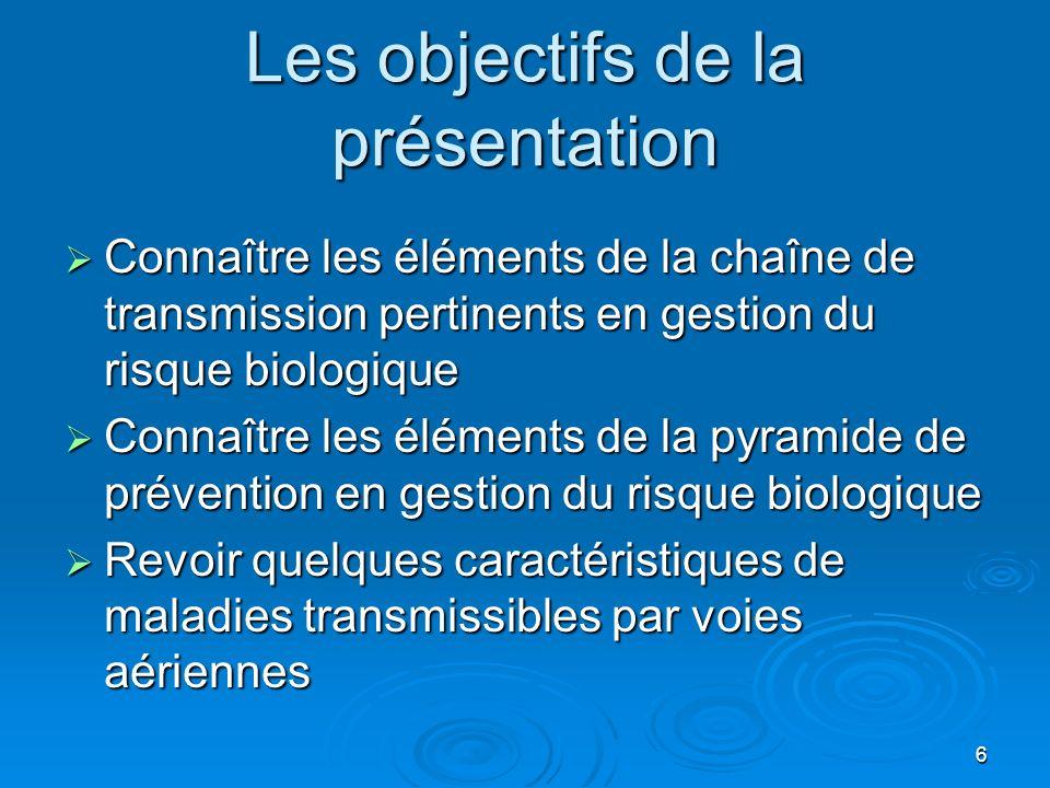 Les objectifs de la présentation