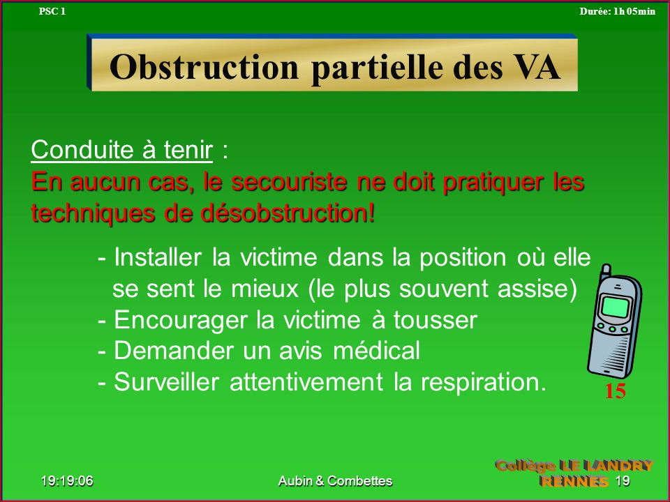 Obstruction partielle des VA
