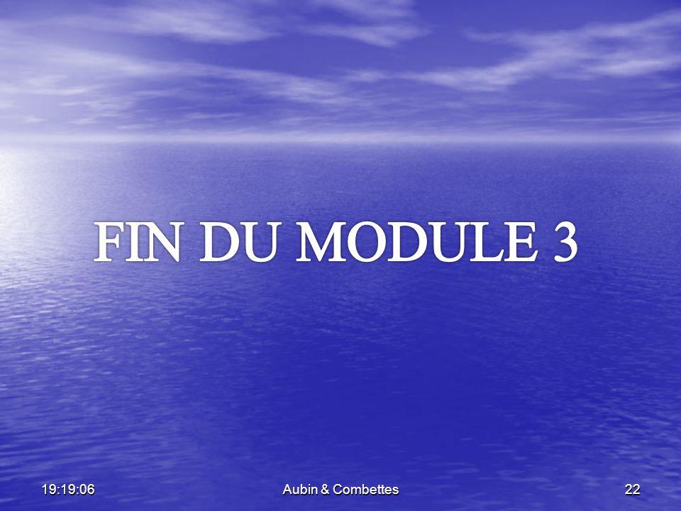 FIN DU MODULE 3 06:02:34 Aubin & Combettes