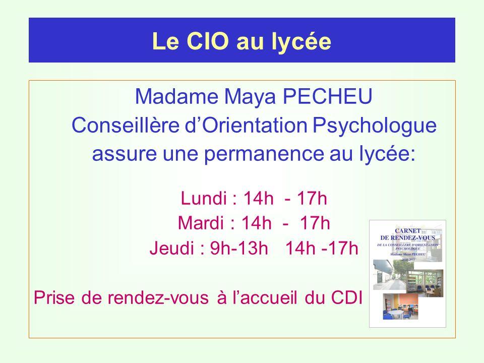 Le CIO au lycée Madame Maya PECHEU