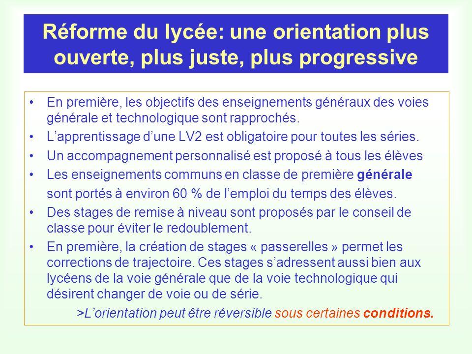 Réforme du lycée: une orientation plus ouverte, plus juste, plus progressive