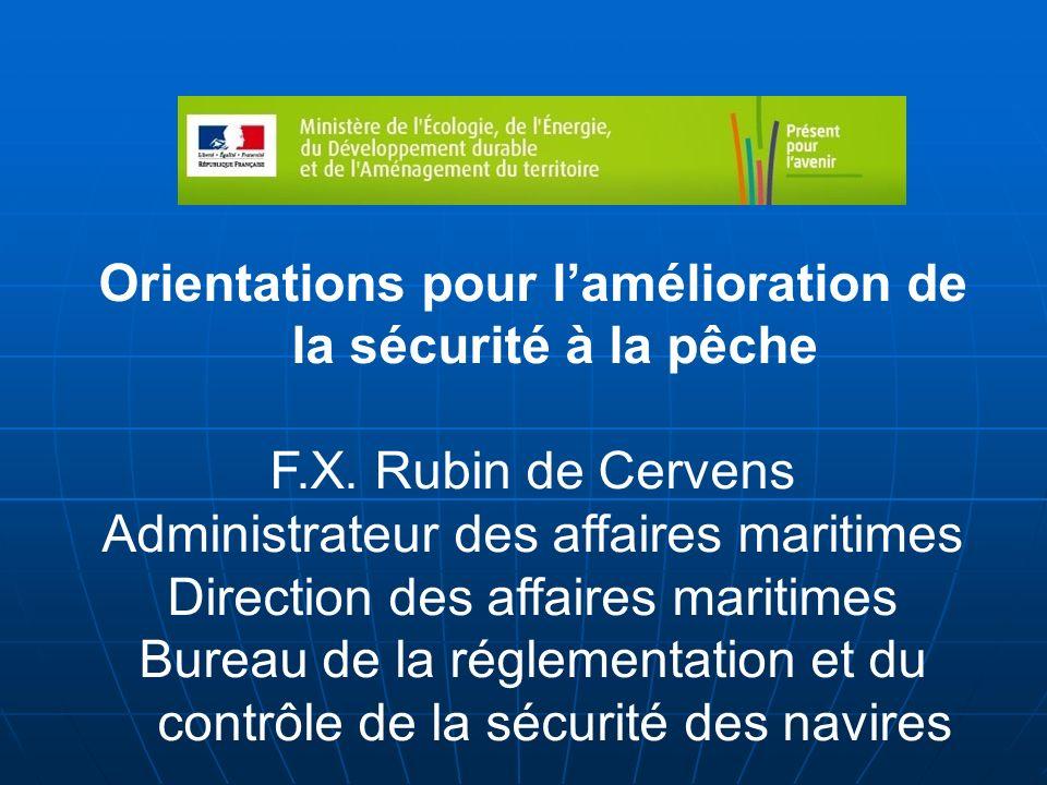 Orientations pour l'amélioration de la sécurité à la pêche