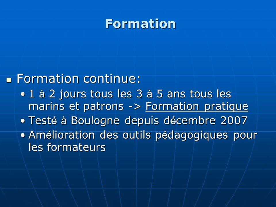 Formation Formation continue: