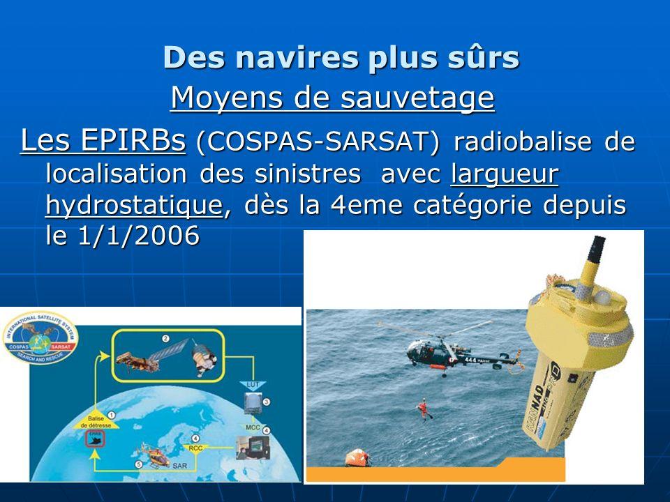 Des navires plus sûrs Moyens de sauvetage.