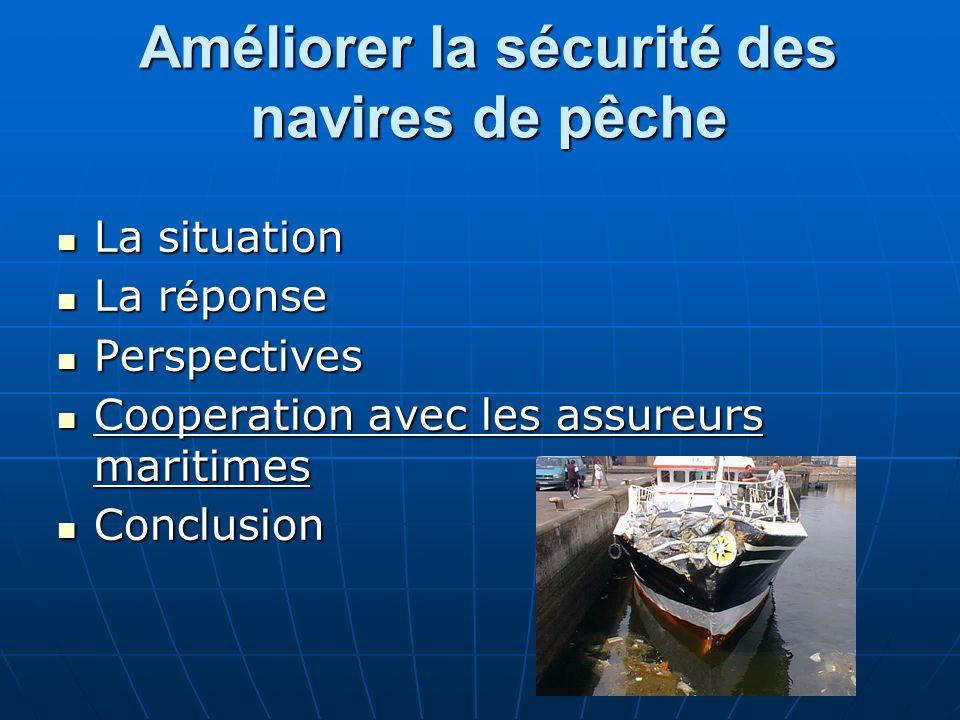 Améliorer la sécurité des navires de pêche