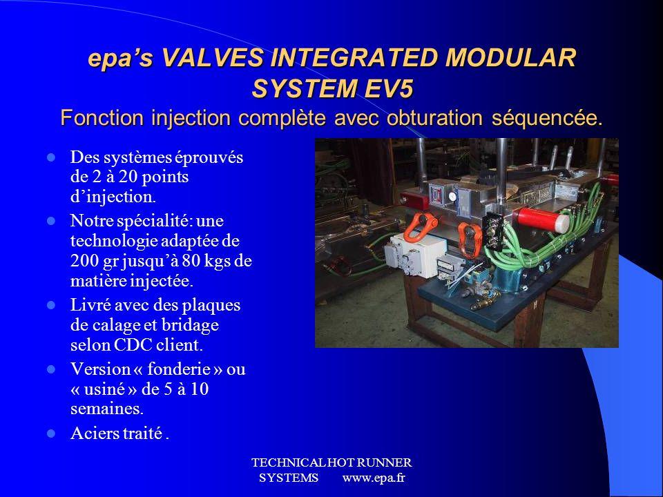 TECHNICAL HOT RUNNER SYSTEMS www.epa.fr
