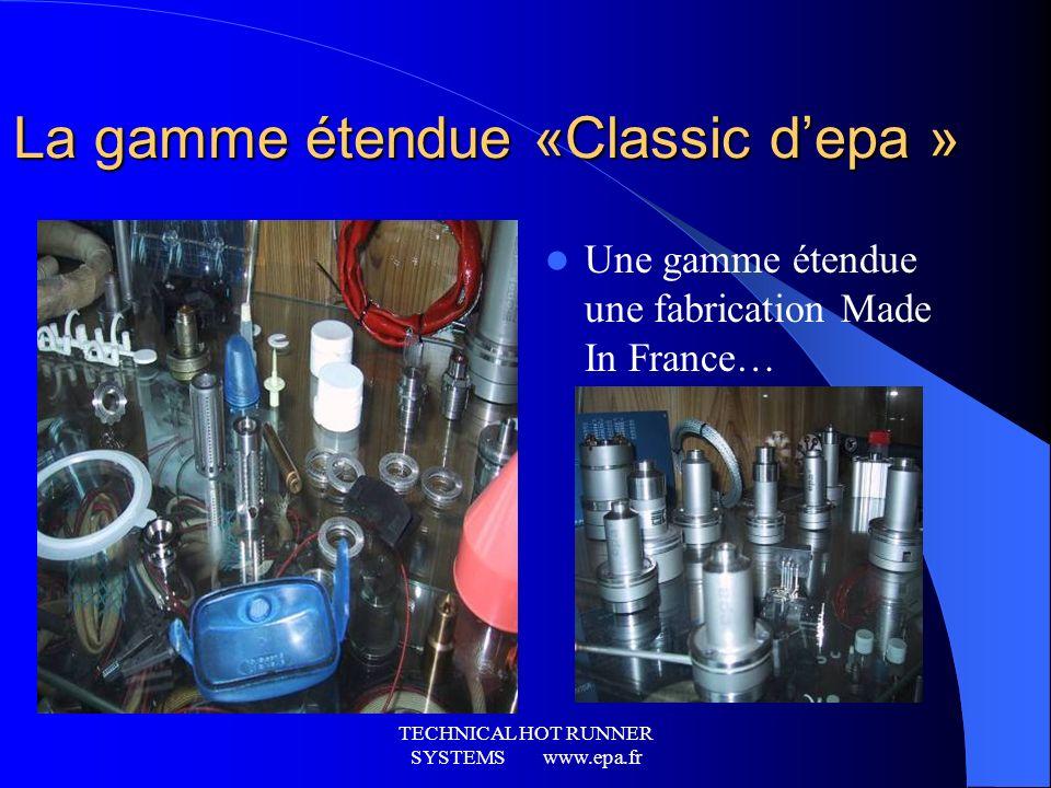 La gamme étendue «Classic d'epa »