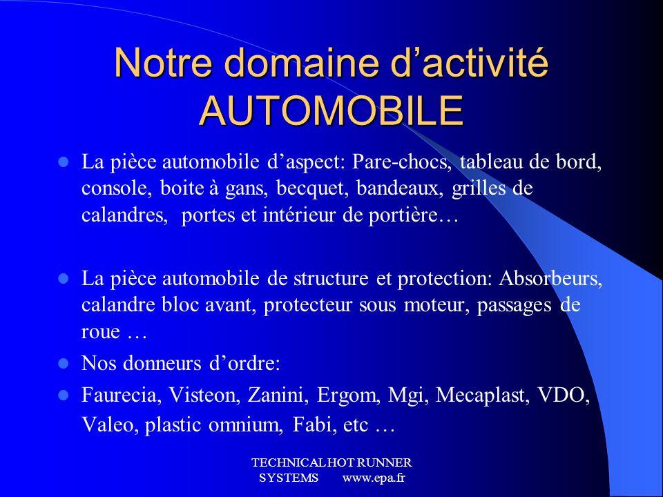 Notre domaine d'activité AUTOMOBILE