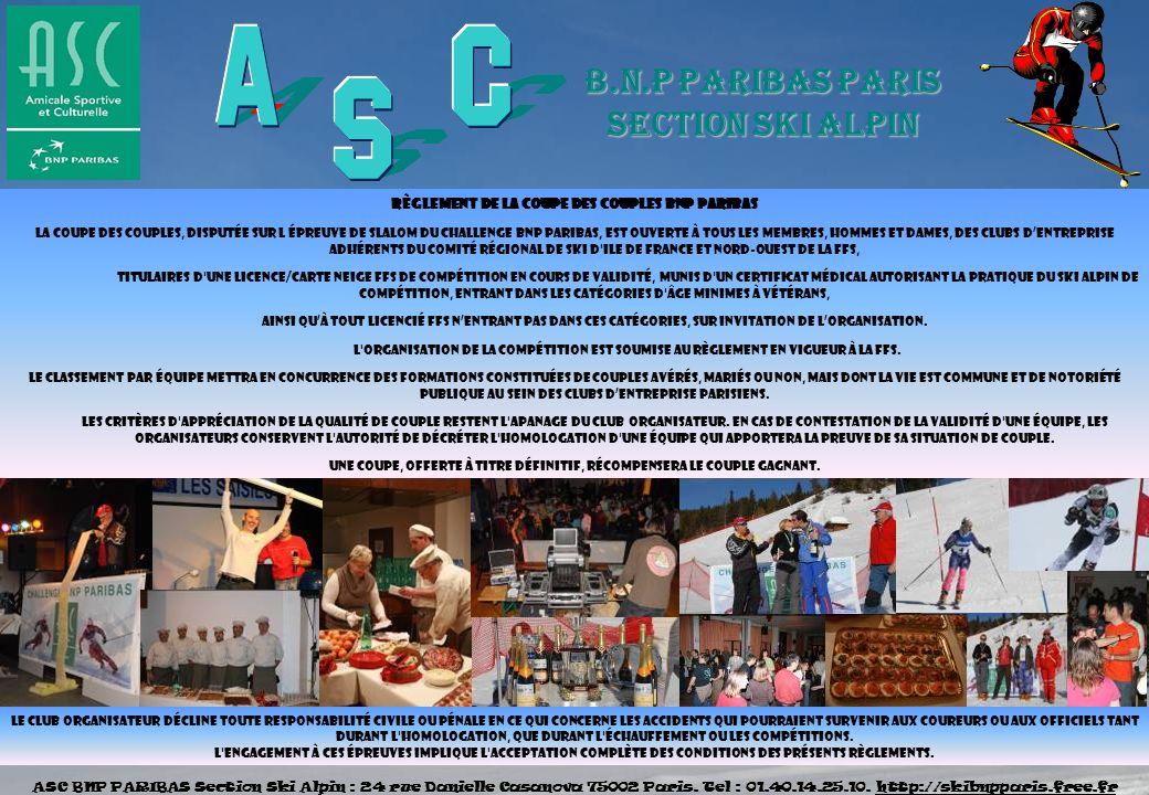 Règlement de la coupe des COUPLES BNP PARIBAS