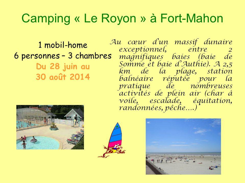 Camping « Le Royon » à Fort-Mahon