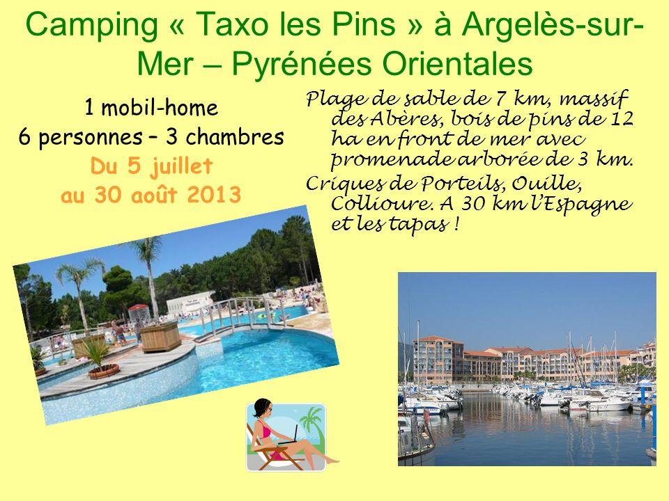 Camping « Taxo les Pins » à Argelès-sur-Mer – Pyrénées Orientales