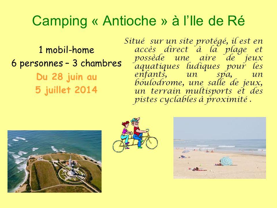 Camping « Antioche » à l'Ile de Ré